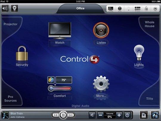 ipad control4 my home