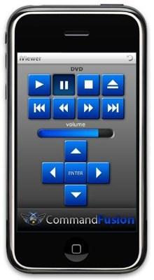 commandfusion iviewer Utilisez votre iPhone comme une télécommande