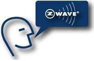 z wave logo complet bleu