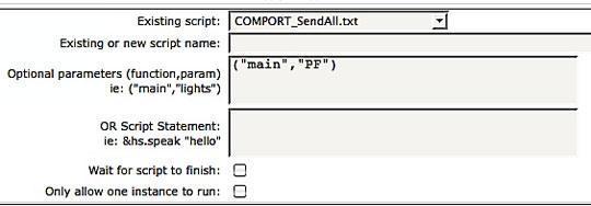 Script Homeseer et variables