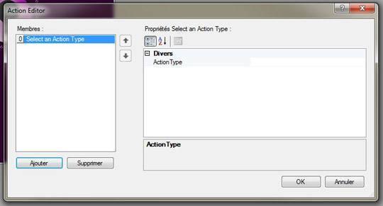 Ajouter une action HSTouch Designer