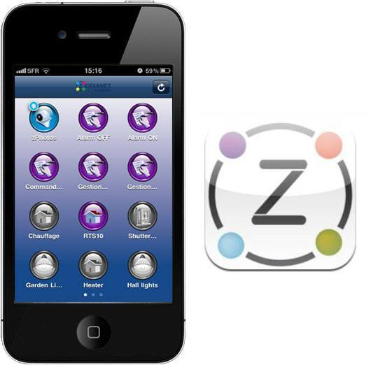 appli iphone zibase zodianet