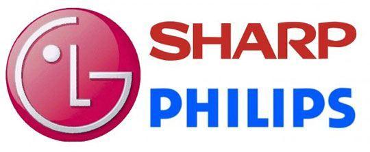lg sharp philips logos smart tv
