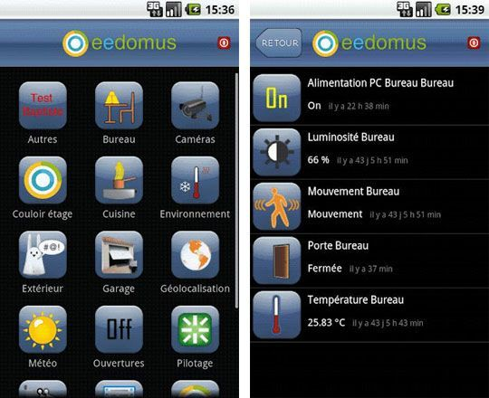 eedomus android Les applications domotiques pour Android