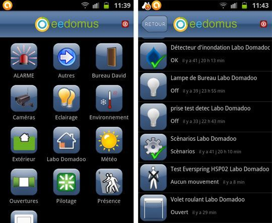 eedomus application android