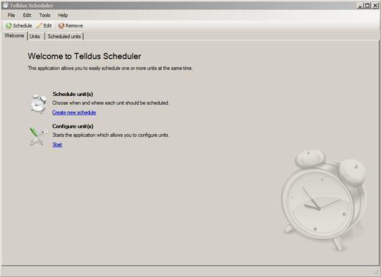 telldus utilisation scheduler 01