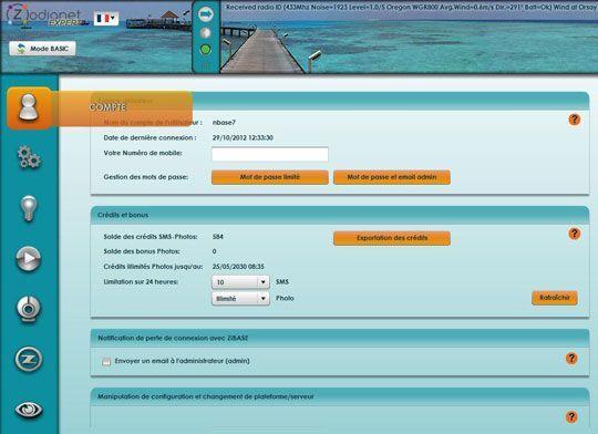 zibase nouvelle interface02 Le nouveau configurateur ZiBASE est lancé sur le serveur du ZiBASE Club !