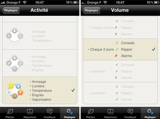 koubachi iphone app notification center