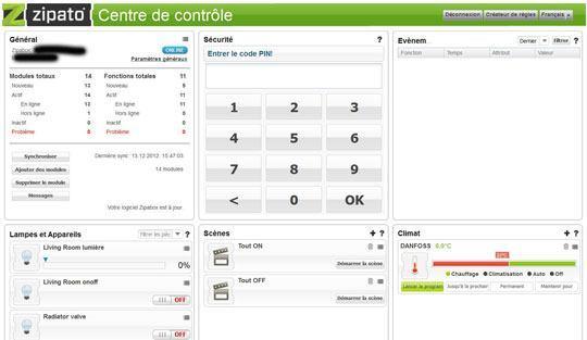 zipabox dasbboard fr Zipabox : Présentation de linterface web