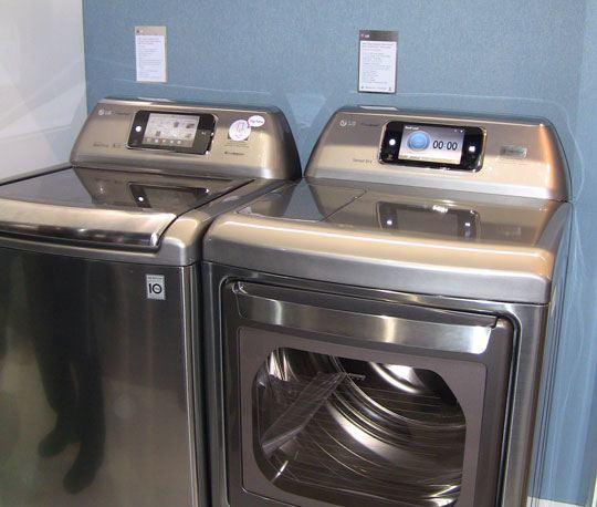 lg lave linge ces2013 La maison connectée vue par LG