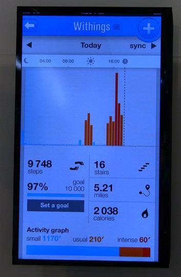 withings smart activity tracker app ces2013 Une nouvelle balance et un appareil de suivi d'activité chez Withings