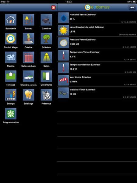 eedomus ipad v1.1 Lapplication eedomus devient compatible iPad