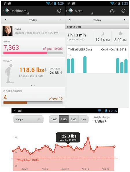 fitbit activity tracker android app