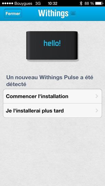 Withings Pulse iPhone app