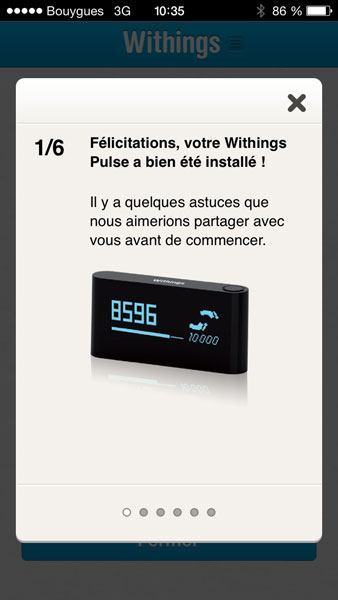 Withings Pulse iPhone app install