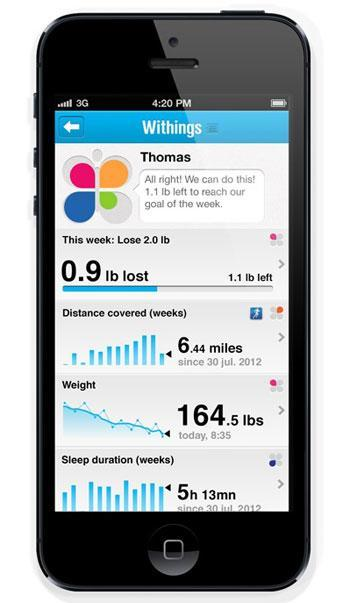 e sante withings app