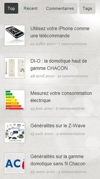 blog domadoo menu droite Le Blog Domadoo change de peau