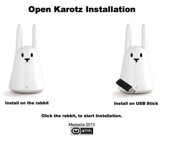 openkarotz installation 570x500 OpenKarotz : Libérez votre lapin Karotz !