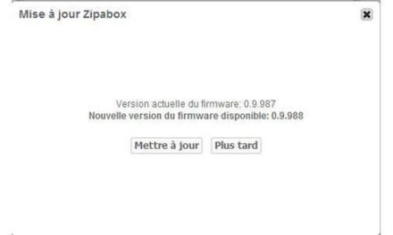 Nouveau firmware 0.9.988 pour la Zipabox