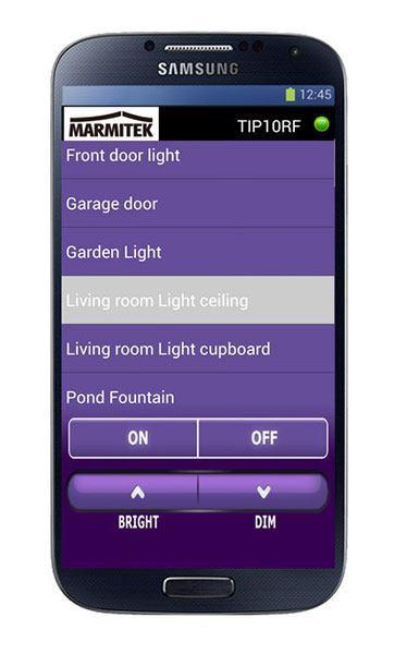 Marmitek tip10rf android app Marmitek TIP10RF : une box domotique X10