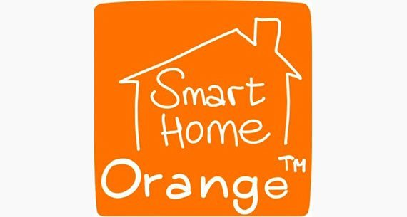 smart home by orange logo