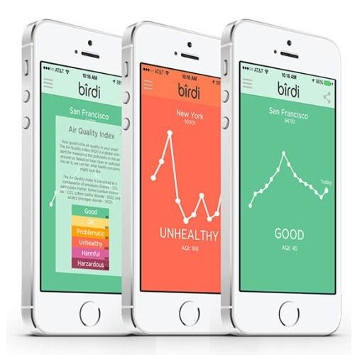 Birdi iPhone app 510x500 Birdi, un détecteur de fumée et de qualité dair intelligent