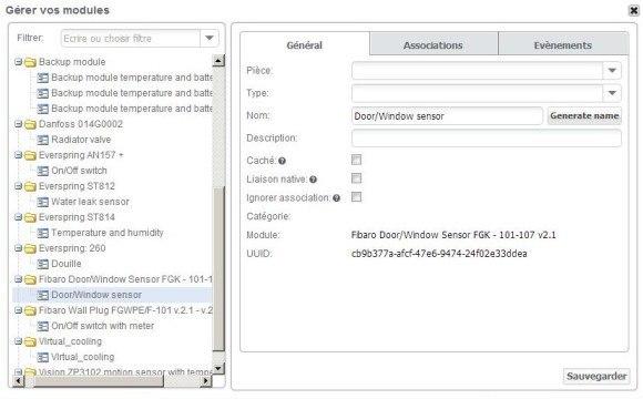 Guide d'installation du détecteur d'ouverture FGK 101 FIBARO avec la zipabox