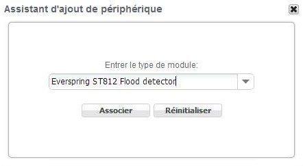 Guide d'installation du détecteur d'eau ST-812 EVERSPRING avec la zipabox