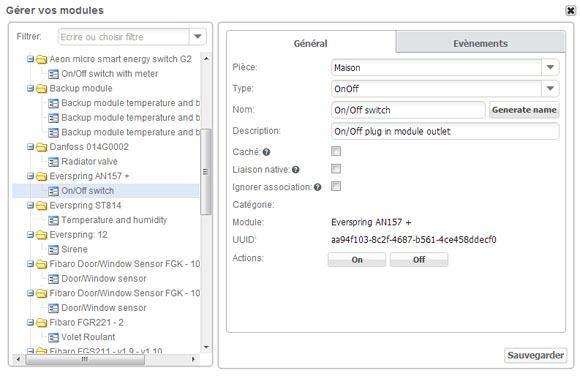 Guide d'installation du module Prise ON/OFF AN157-6 EVERSPRING avec la zipabox