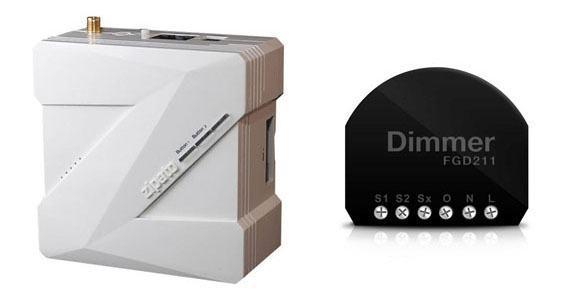 Zipabox et FIBARO Micromodule variateur Z Wave FGD 211
