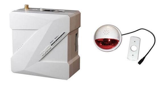 Zipabox et FORTREZZ Sirène Z Wave avec flash rouge