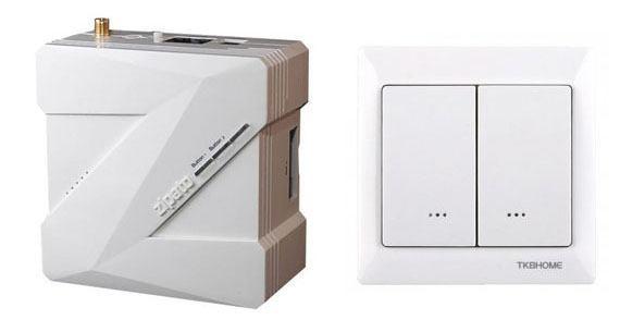 Zipabox et TKB HOME TZ66D Interrupteur double