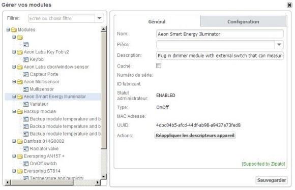 Guide d'installation du module prise variateur AEON LABS DSC08 avec la Zipabox