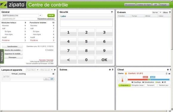 centre de control zipabox 580x377 - Domotique - ZipaBox de Zipato