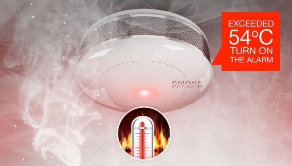 fibaro smoke sensor FGSS 001 temperature 580x331 Le détecteur de fumée Fibaro FGSS 001 est arrivé !