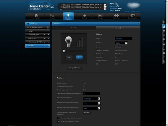 Guide d'installation du micromodule variateur FGD-211 Fibaro avec le Home Center 2