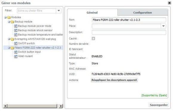 Guide d'installation du Micromodule volet roulant FGRM-221/FGRM-222 Fibaro avec la Zipabox