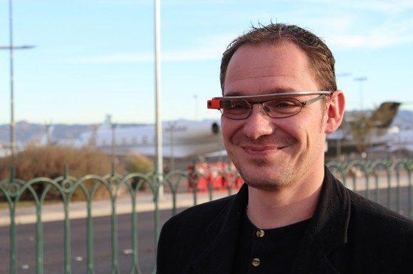 Google Glass Cedric L 580x386 Jai expérimenté le #CES2014 en Google Glass