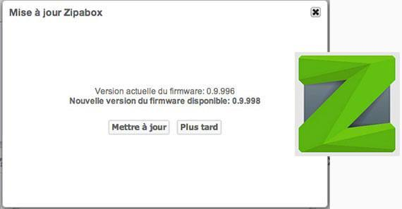 Zipabox : Nouveau firmware et nouvelle application Android
