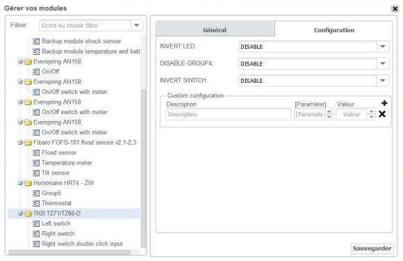 Guide d'utilisation de l'interrupteur ON/OFF double TKB Home TZ66D avec la Zipabox