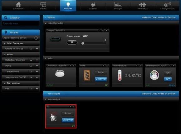 Guide d'utilisation du détecteur de choc Vision Security ZS5101 avec le Home Center 2 et Home Center Lite