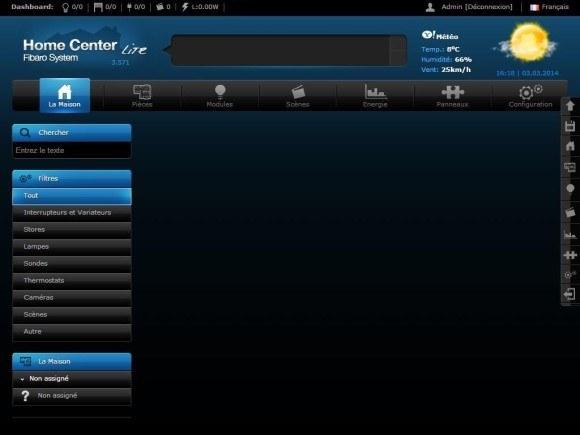 Test du contrôleur Home Center Lite