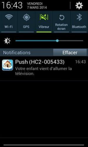 Création d'une notification Push avec le Home Center 2