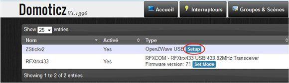 Domoticz setupzwave Domoticz, Raspberry Pi et Z Wave