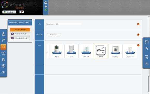 Guide d'utilisation du détecteur de choc Vision Security ZS5101 avec la Zibase