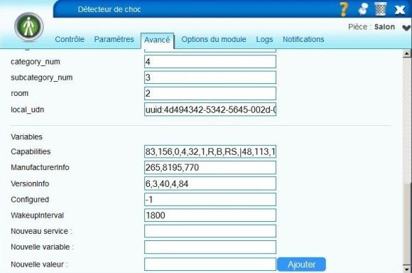 Guide d'utilisation du détecteur de choc Vision Security ZS5101 avec la Vera