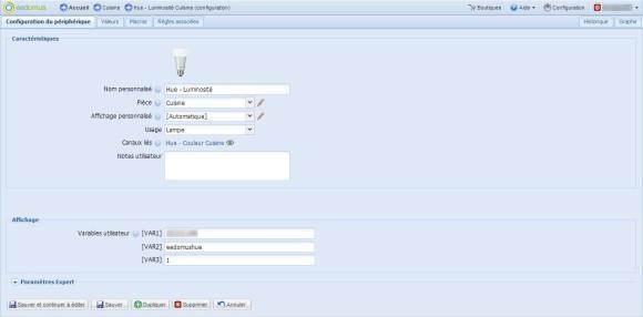 Guide d'utilisation de l'ampoule Philips Hue avec la Eedomus