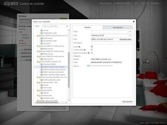 Guide d'utilisation du contrôleur RGBW Fibaro FGRGB-101 avec la Zipabox