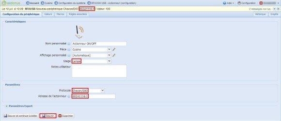 Guide d'utilisation de l'interface RFXtrx433E (RFXCOM 14103) avec la box domotique Eedomus