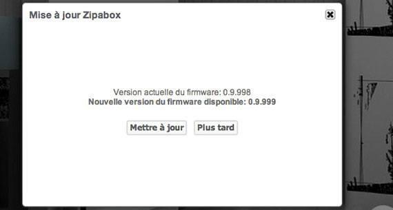 Nouvelle mise à jour Zipabox 0.9.999